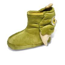 Eule Tier Hausschuhe Boots Pantoffel Puschen Schlappen Kuscheltier Plüsch Kinder Grün 29-35