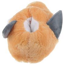 Fuchs Tier Hausschuhe Pantoffel Puschen Schlappen Kuscheltier Plüsch Damen Kinder Grau 29-35 Pic:2