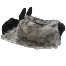 Kuh Tier Hausschuhe Pantoffel Puschen Schlappen Kuscheltier Plüsch Damen Herren Braun Grau 41-46 Pic:1