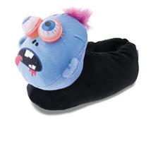 Halloween Monster Tier Hausschuhe Pantoffel Schlappen Kuscheltier Plüsch Kinder Schwarz 33-41