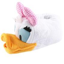DISNEY Daisy Duck Tier Hausschuhe Pantoffel Schlappen Kuscheltier Plüsch Damen Weiß 29-43