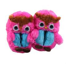 Eule Tier Hausschuhe Pantoffel Puschen Schlappen Kuscheltier Plüsch Mädchen Pink 30-35
