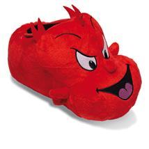 Teufel Luzi Tier Hausschuhe Pantoffel Puschen Schlappen Kuscheltier Plüsch Unisex Rot 36-45