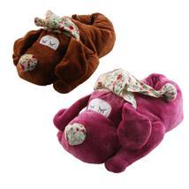 Hund Schlafmütze Tier Hausschuhe Pantoffel Puschen Schlappen Kuscheltier Plüsch Damen 35-41