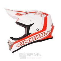 O'Neal 3Series Helm Star Weiß Rot