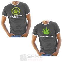 T-shirt Herren Vegetarier Cannabis We Fly Higher