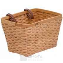 Liix Fahrradkorb Woven Wooden, Braun