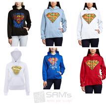 Kapuzen Pullover Damen DC Superman Superwoman