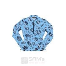 Go Girl Ritzel Blue Langarm Fahrrad Trikot