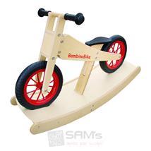 Bambino Bike Kinderlaufrad Holz natur mit Wippe