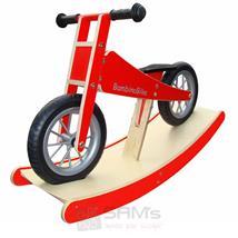 Bambino Bike Kinderlaufrad Holz rot mit Wippe