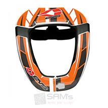EVS R4 Sticker Kit Orange Aufkleber Decorset