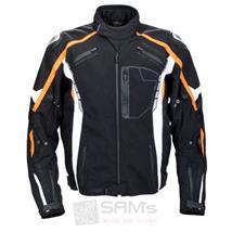 Germot Eagle Motorrad Textiljacke Schwarz Orange