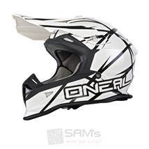 O'Neal 2Series MX Helm Thunderstruck Weiß Schwarz
