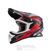 O'Neal 3Series MX Helm Hurricane Schwarz Rot