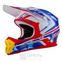 O'Neal 7Series MX Helm CAMO Weiß Blau