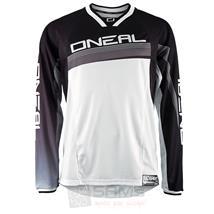 O'Neal Element FR langarm Jersey Schwarz Weiß Pic:1