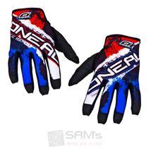 O'Neal Jump MX DH Handschuhe Shocker Schwarz Rot