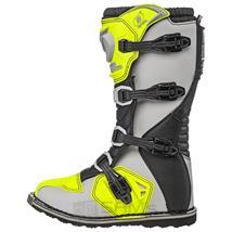 O'Neal Rider Boot MX Cross Stiefel Grau Gelb Pic:1