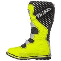 O'Neal Rider Boot MX Cross Stiefel Grau Gelb Pic:2