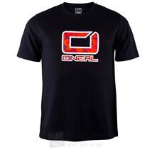 O'Neal Slickrock T-Shirt Fahrrad MTB Schwarz Rot Pic:1