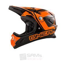 O'Neal Spark Fidlock DH Helm STEEL Schwarz Orange
