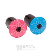 Supacaz STAR PLUGZ Neon Pink Blau Lenker Plugs