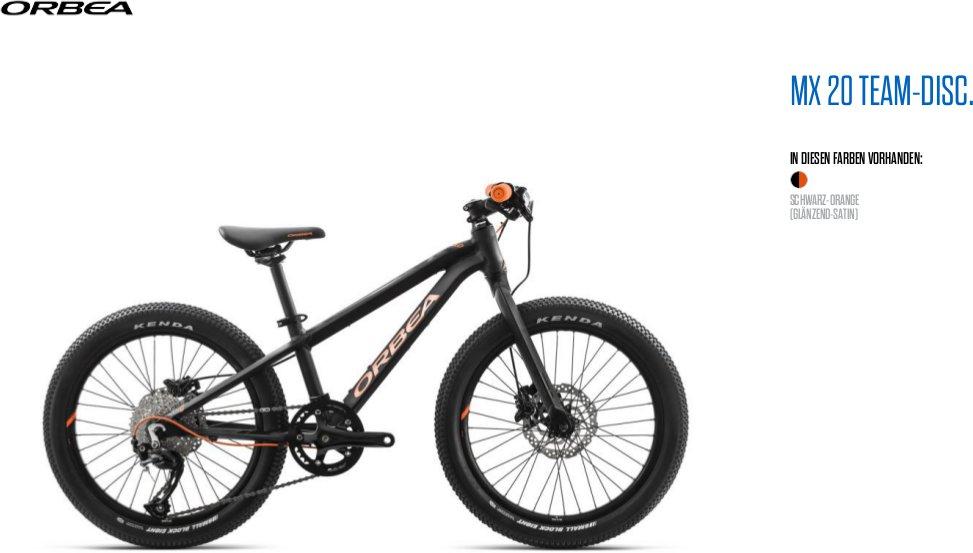 Orbea MX 20 Zoll Team Disc Kinder MTB Fahrrad | SAMS