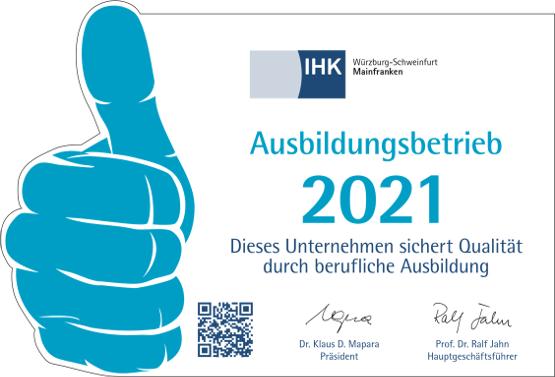 IHK Ausbildungsbetrieb 2020