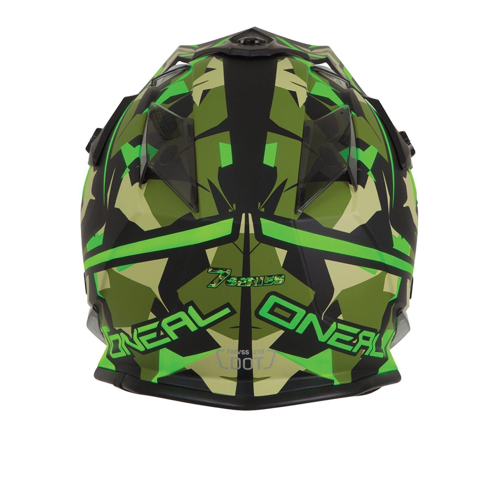 ONeal-Motocross-casco-MX-ENDURO-MOTO-BICI-FUORISTRADA-CROSS-Series-Adventure miniatura 125