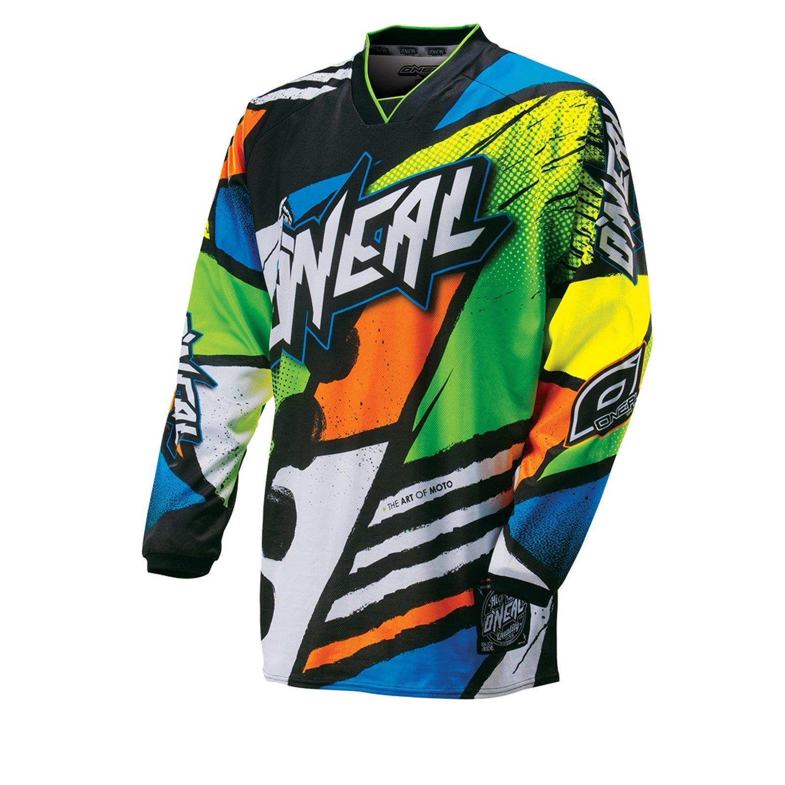 O-039-Neal-elemento-Mayhem-JERSEY-Racewear-Motocross-Maglia-MX-DH-FR-MTB-MOUNTAIN-BIKE miniatura 91