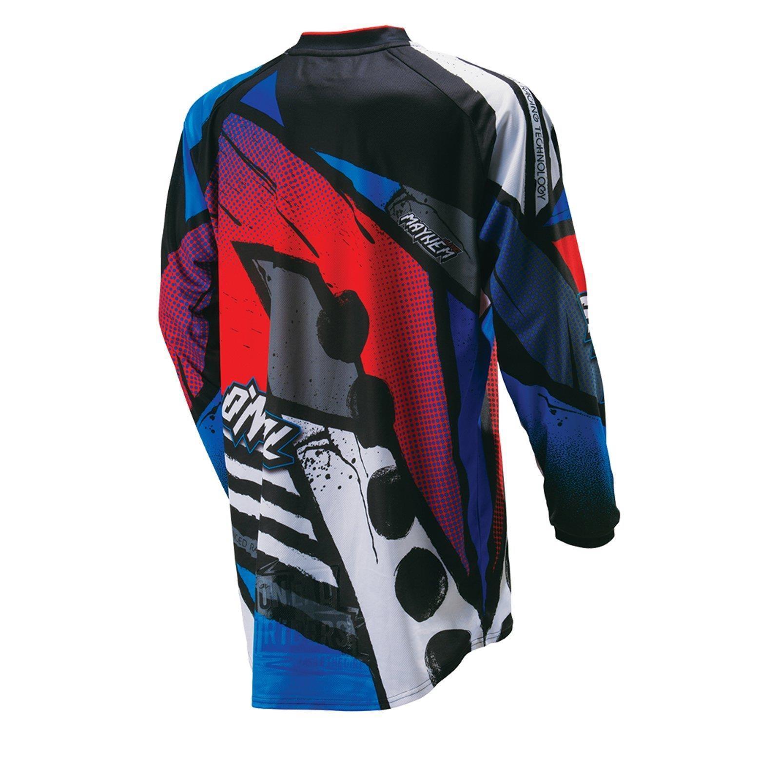 O-039-Neal-elemento-Mayhem-JERSEY-Racewear-Motocross-Maglia-MX-DH-FR-MTB-MOUNTAIN-BIKE miniatura 90