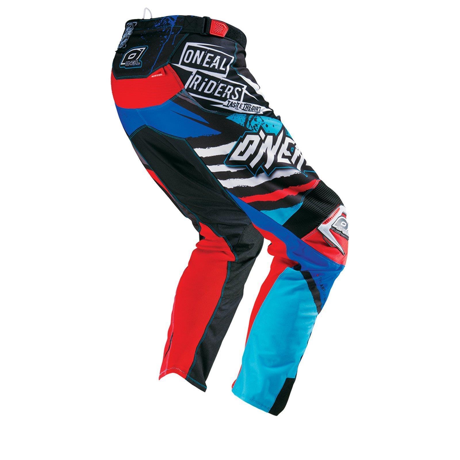 O-039-neal-elemento-Mayhem-Hardwear-Pants-pantalones-MX-Moto-Cross-Enduro-todoterreno-cuero miniatura 24