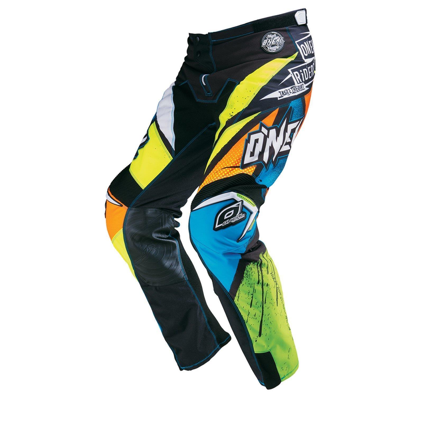 O-039-neal-elemento-Mayhem-Hardwear-Pants-pantalones-MX-Moto-Cross-Enduro-todoterreno-cuero miniatura 21