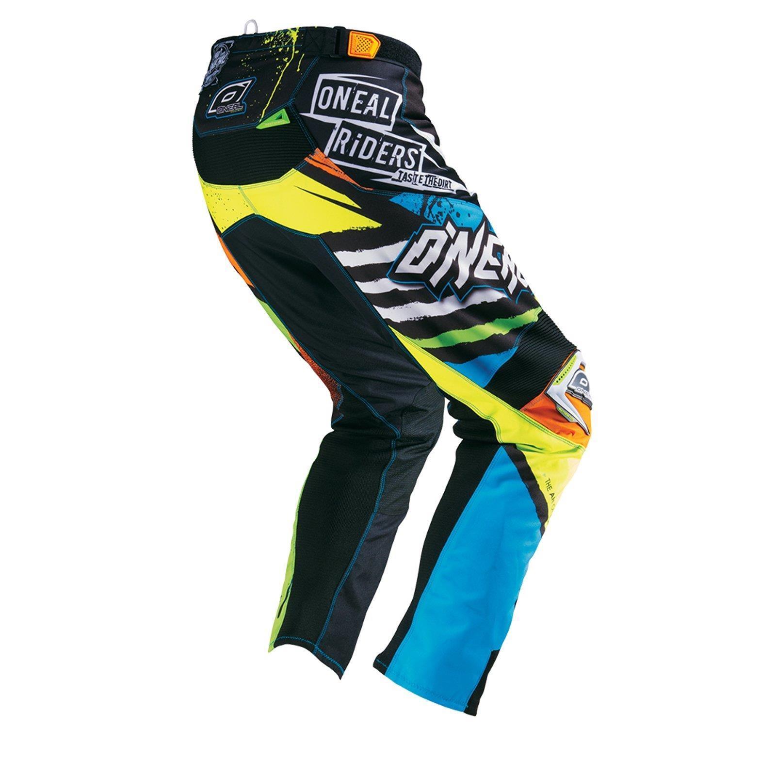 O-039-neal-elemento-Mayhem-Hardwear-Pants-pantalones-MX-Moto-Cross-Enduro-todoterreno-cuero miniatura 22