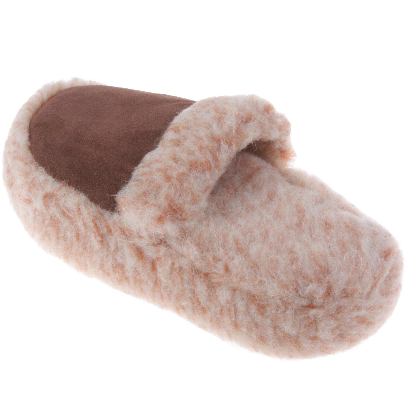 Lammfell-Hausschuhe-Pantoffel-Puschen-Schlappen-Slipper-Pluesch-Unisex-37-46 Indexbild 50