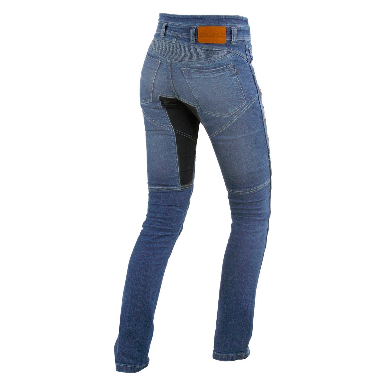 7077674fcd13 Details zu Trilobite Parado Motorrad Jeans Hose L34 Blau Damen Stretch  Abriebfest Reißfest