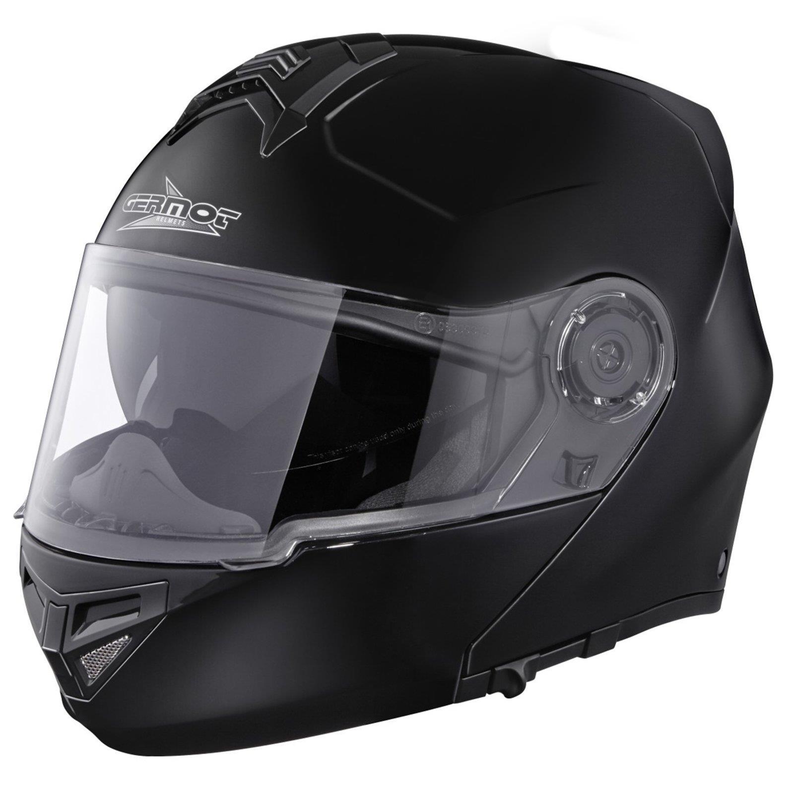 Germot GM 940 Klapp Helm schwarz Motorrad Integral