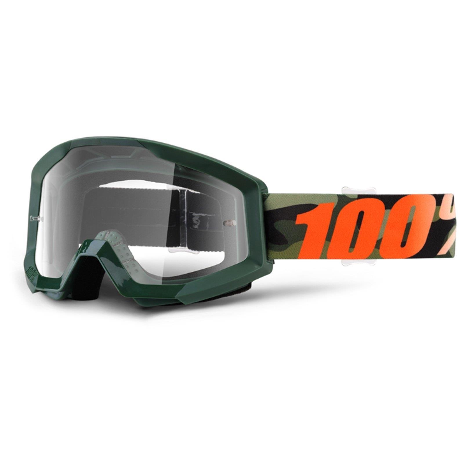 100 prozent strata goggle brille klare scheibe dh mtb mx for Klare scheibe niedernberg