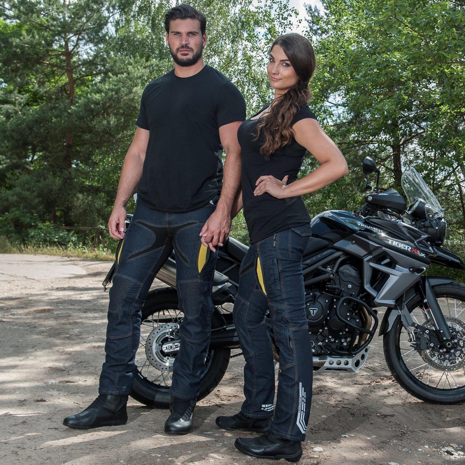Trilobite Probut X-Factor Herren Motorrad Jeans Hose Dunkelblau Protektoren L32