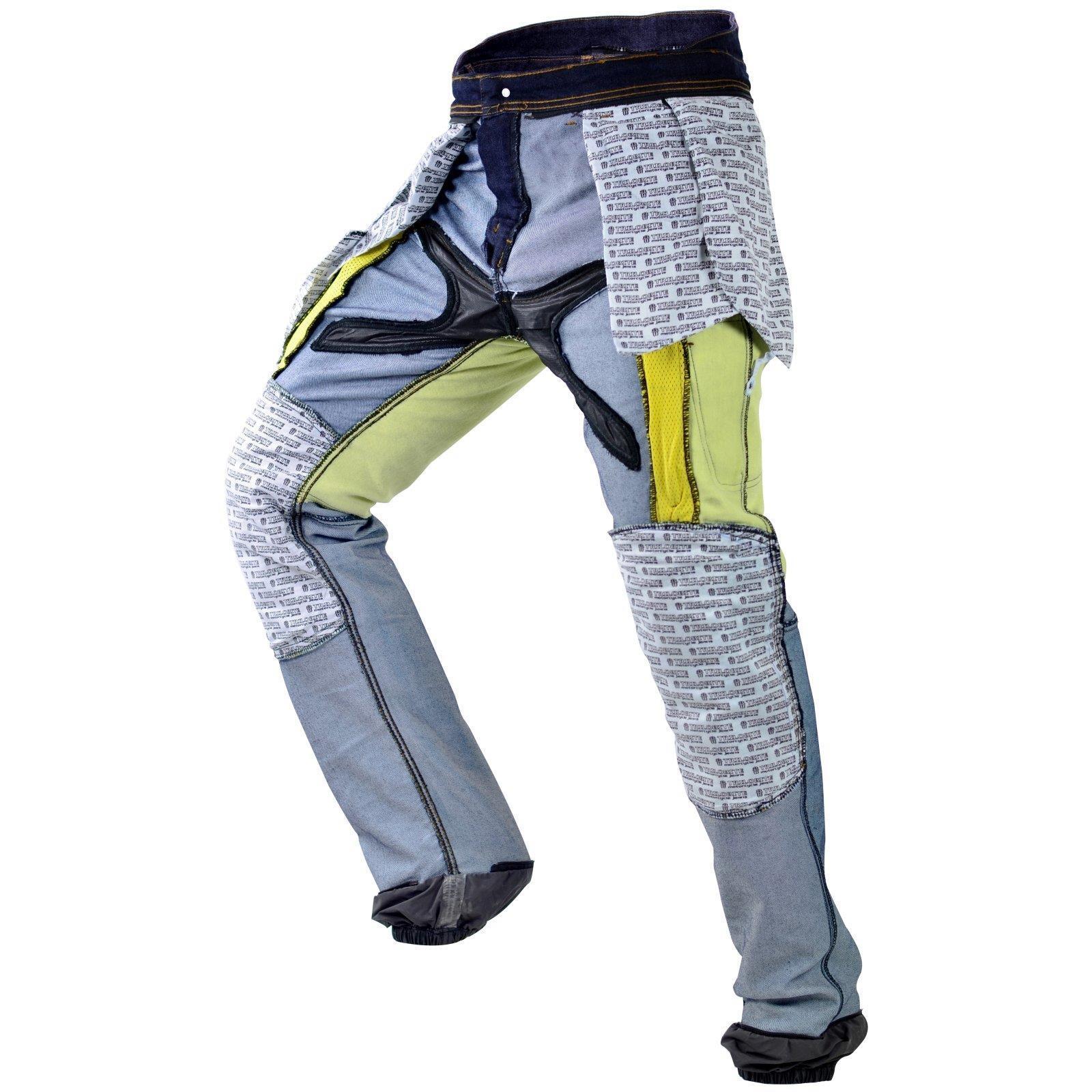 Trilobite-Pantaloni-Moto-Jeans-Abbigliamento-Parado-MICAS-URBAN-DUAL-PANTS-ACID miniatura 89