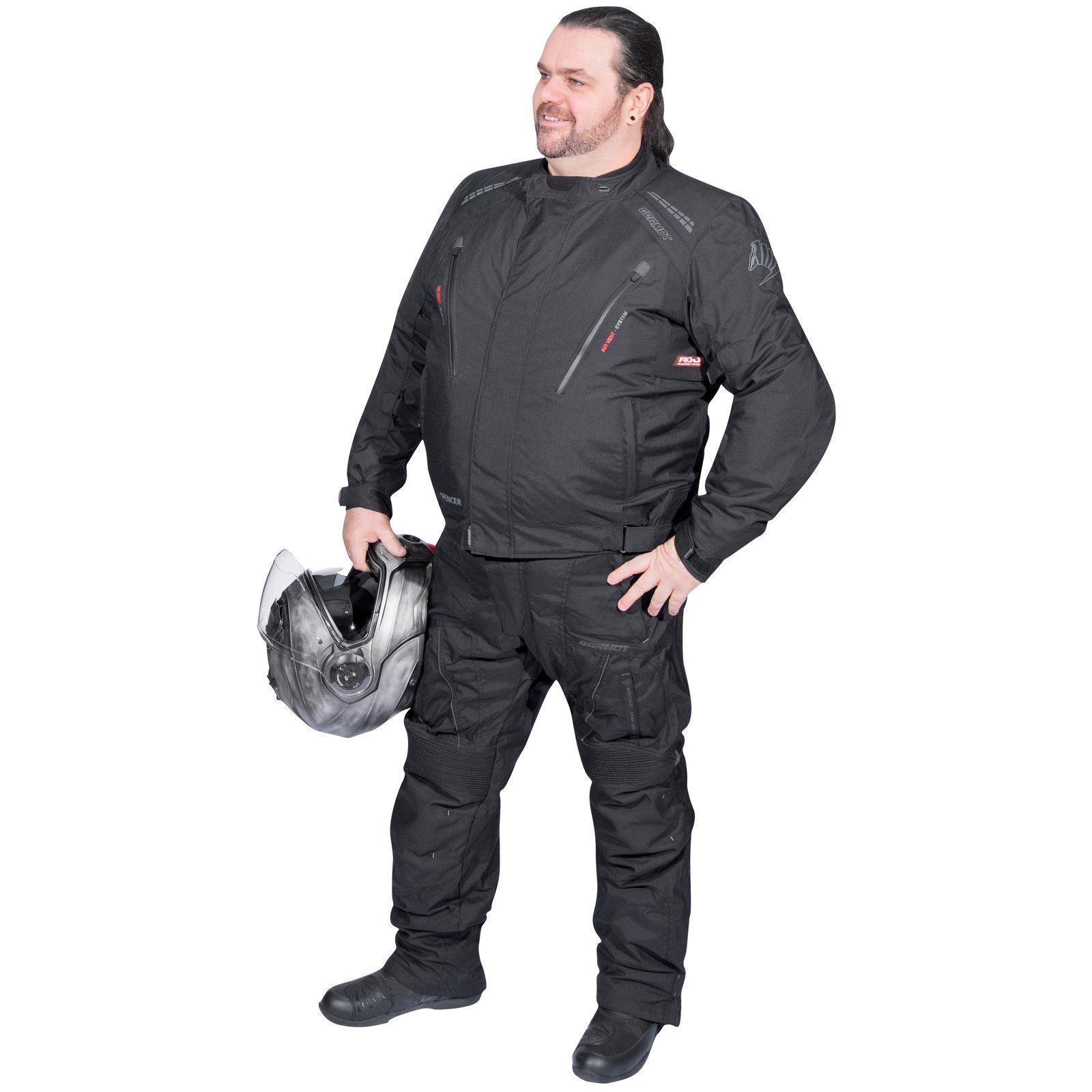 2562a9afa830 Details zu Germot Spencer Textiljacke Motorrad Jacke Übergröße Untersetzte  Große Größen Big