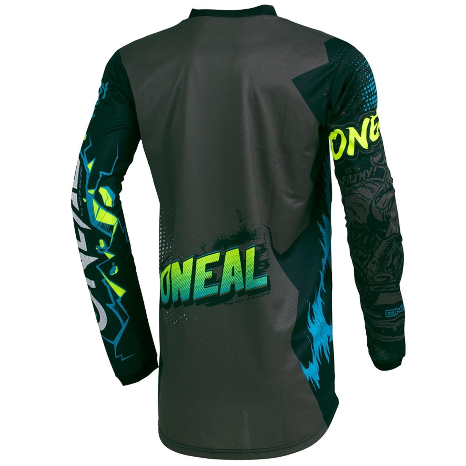 O-039-Neal-elemento-Villain-Motocross-Jersey-Enduro-MX-MTB-FR-DH-MAGLIA-MOUNTAIN-BIKE miniatura 9