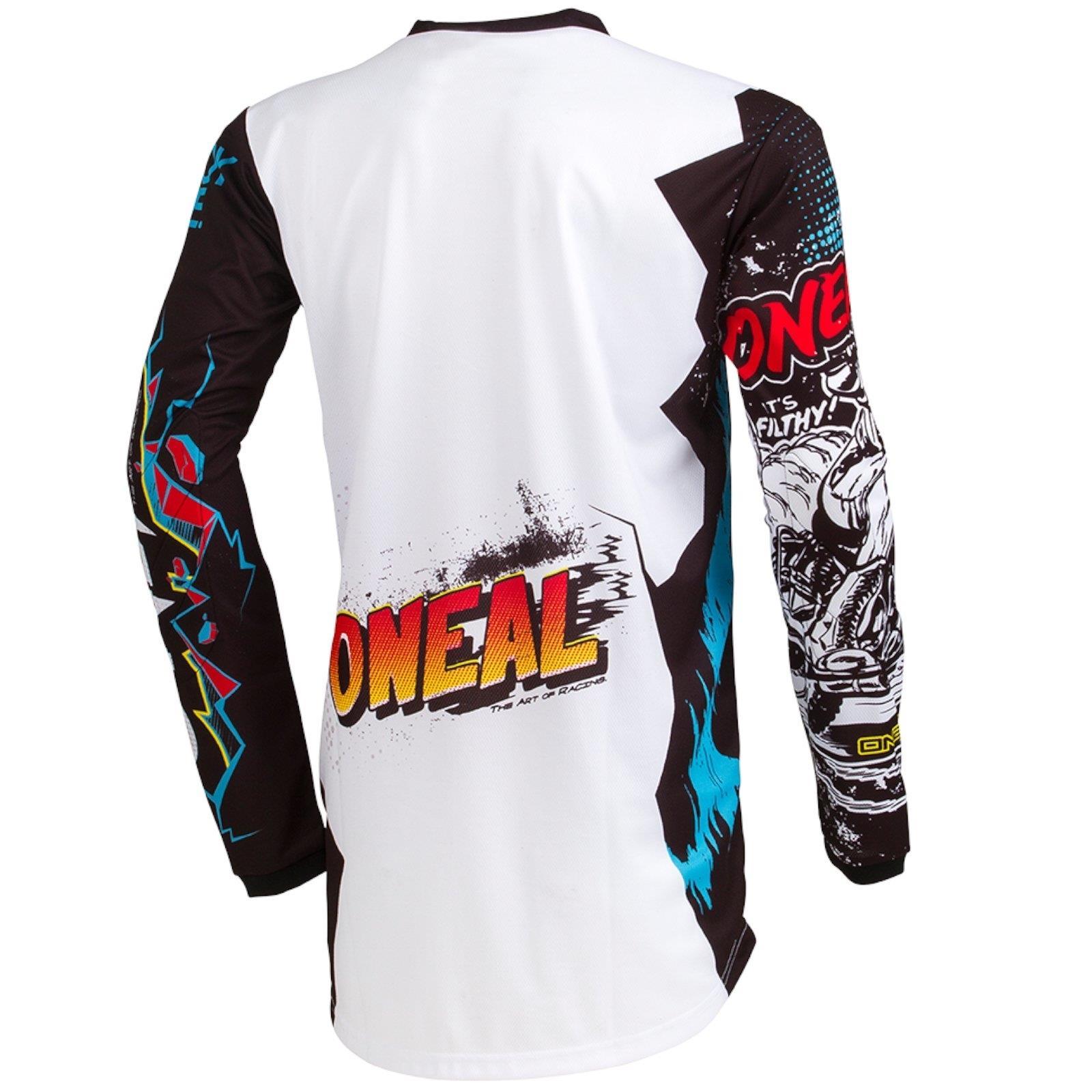 O-039-Neal-elemento-Villain-Motocross-Jersey-Enduro-MX-MTB-FR-DH-MAGLIA-MOUNTAIN-BIKE miniatura 11