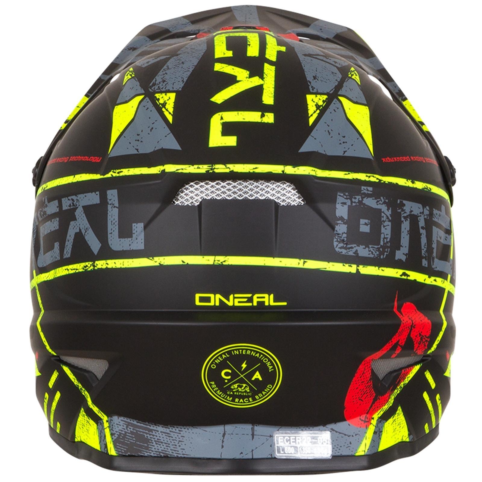 ONeal-Motocross-casco-MX-ENDURO-MOTO-BICI-FUORISTRADA-CROSS-Series-Adventure miniatura 27