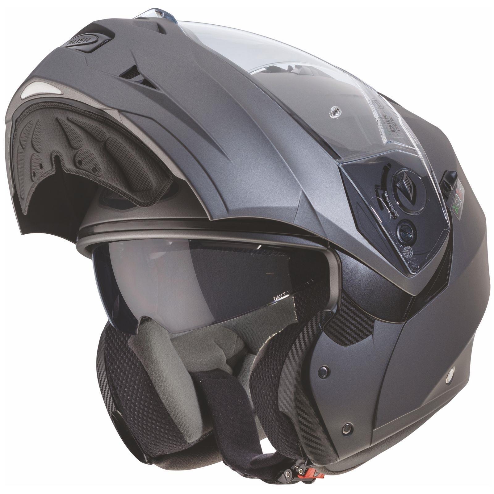 Caberg-Klapp-Helm-Duke-II-2-Motorrad-Belueftet-Sonnenblende-Pinlock-Visier-Jet Indexbild 18