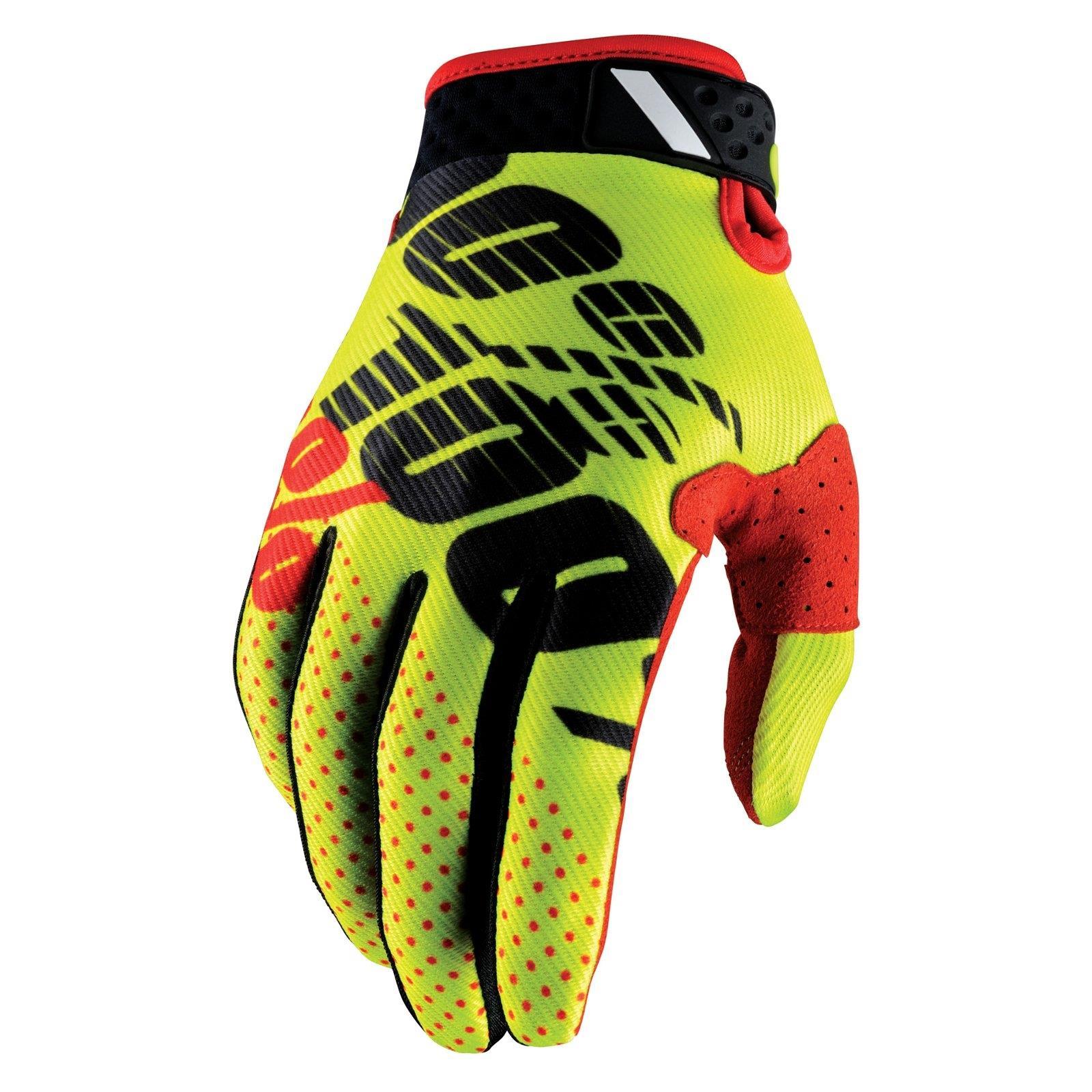 Gr/ö/ße S 100/% Prozent iTrack Handschuhe Clarino MTB DH MX Motocross Enduro Offroad Quad HU-GLO-0002 Farbe Rot