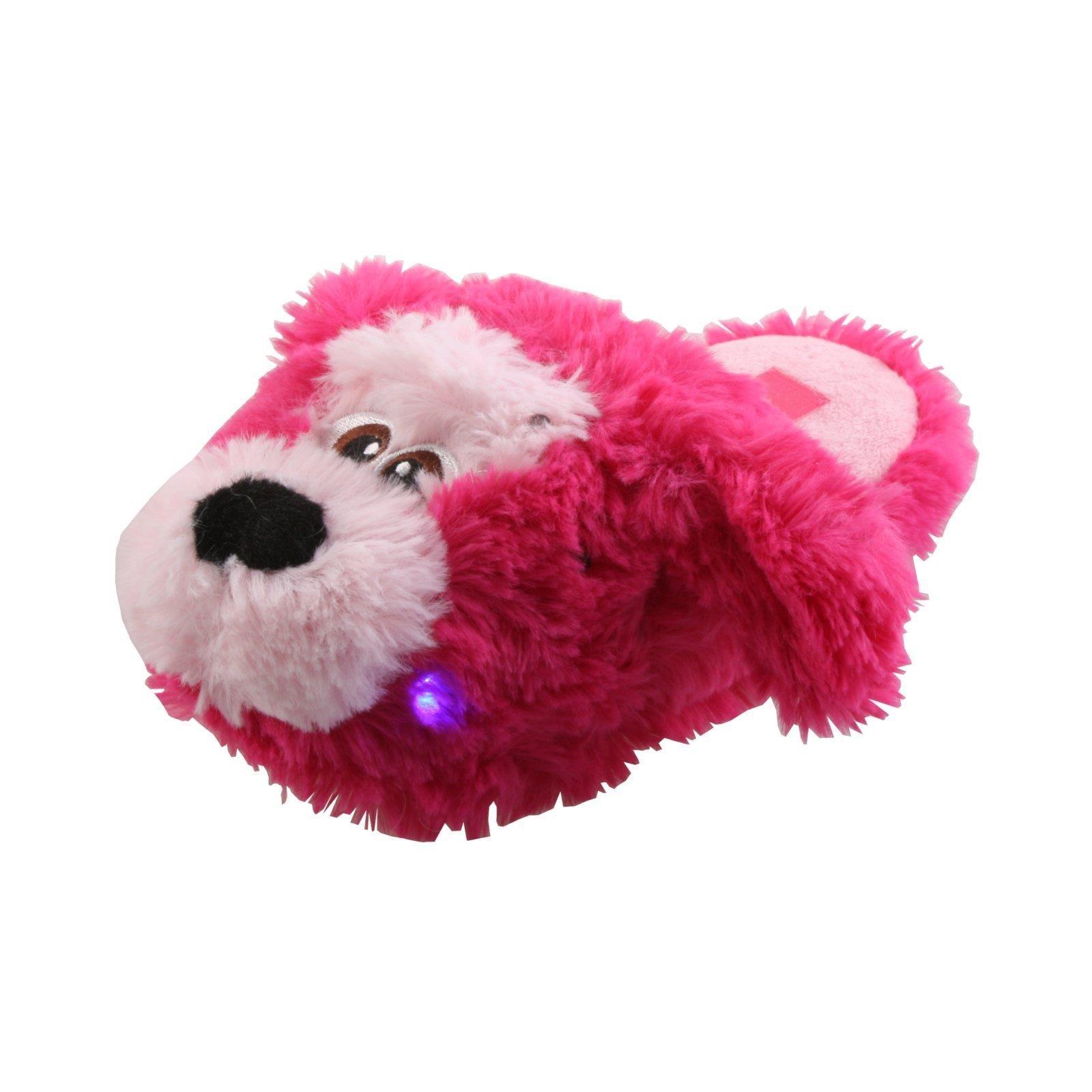 Löwe Affe Hund Einhorn LED Tier Hausschuhe Pantoffel Schlappen Plüsch 25-35