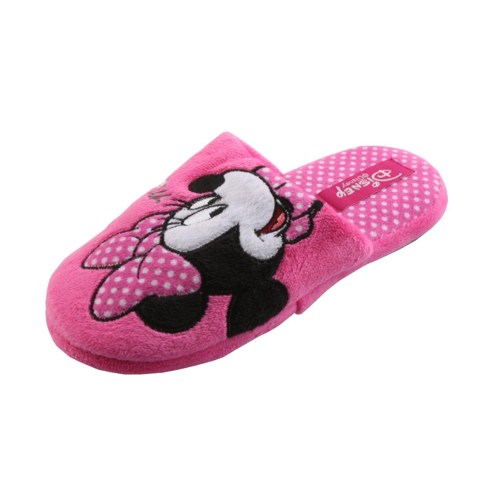 DISNEY Minnie Maus Tier Hausschuhe Pantoffel Schlappen Slipper Plüsch Mädchen
