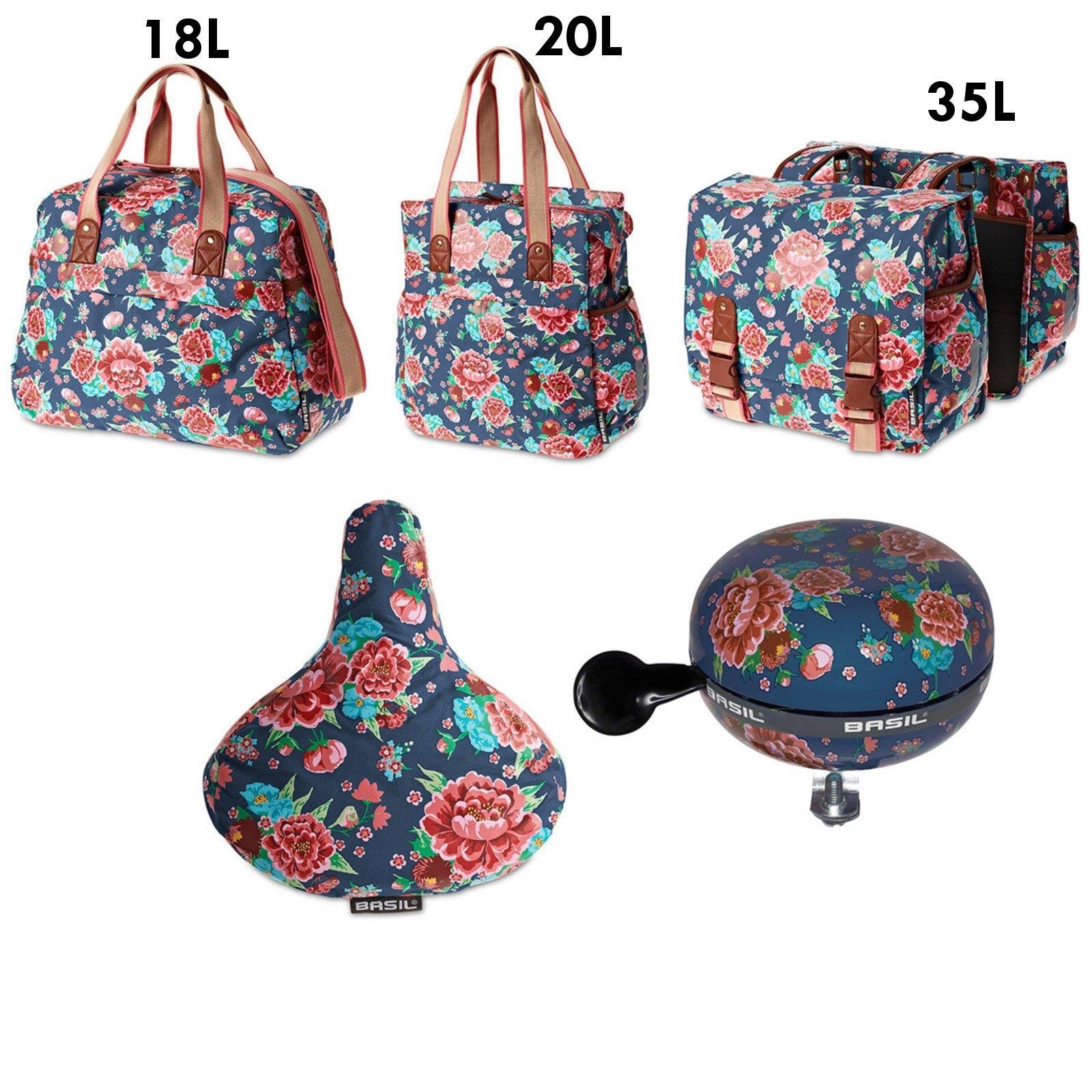 basil bloom set tragetasche handtasche klingel xxl ding dong bell fahrrad bag ebay. Black Bedroom Furniture Sets. Home Design Ideas